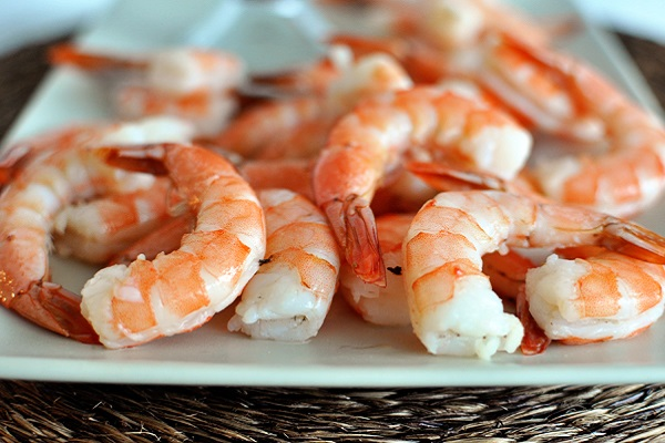 Shrimp is the average size cleared